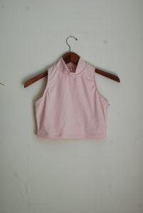Bloch Crop Polo Neck Top -Light Pink