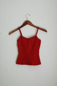 Corset Cami Top - Red (Petite Only)