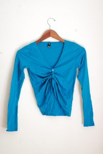 Bloch Front Long Sleeve Top - Teal