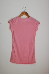 Long Scoop Neck Tee Back (Dance) - Dusty Pink (Petite Only)