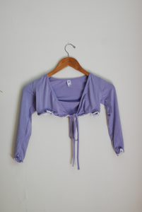 Frill Crossover - Lilac/White